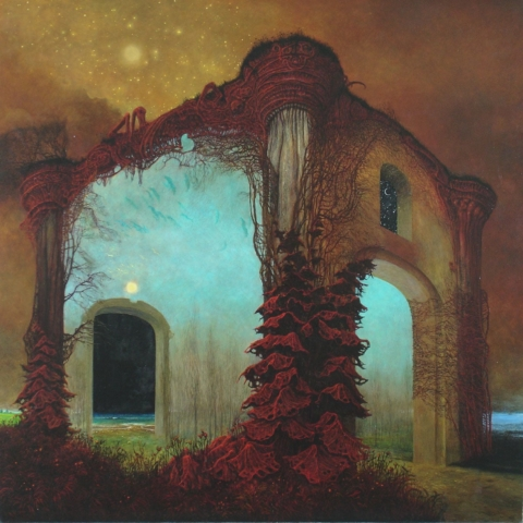 Zdzislaw Beksinski surreal landscapes and abstract surrealism