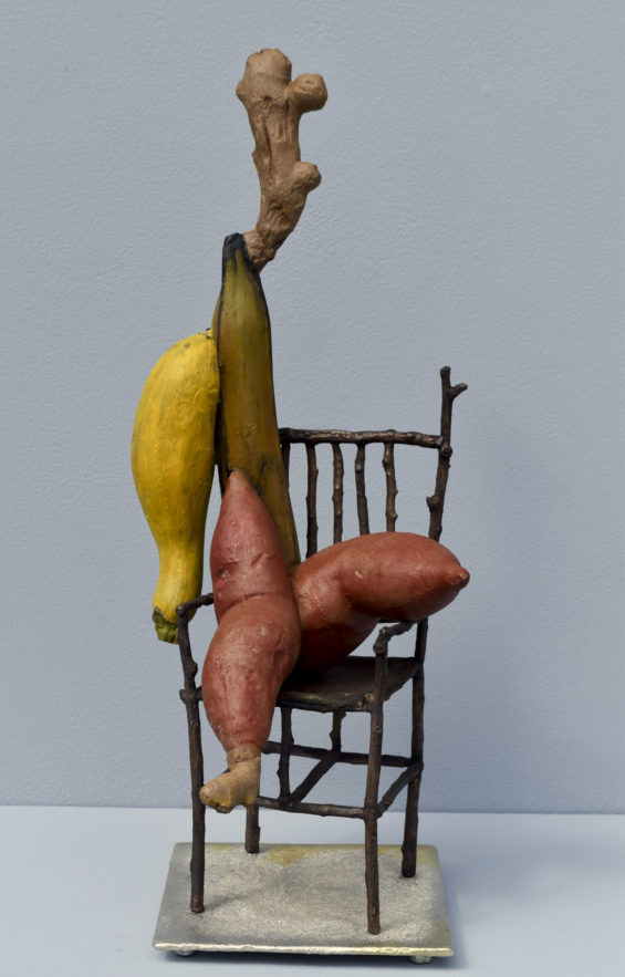 """""""Yam what I Yam"""" Sculpture by D.W. Martin"""